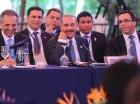 El presidente dominicano, Danilo Medina, expuso los puntos de vista de su gobierno sobre el Plan Nacional de Regularización, ante el pleno de la XLV Cumbre de Jefes de Estado y de Gobierno del SICA 2015, en Guatemala.