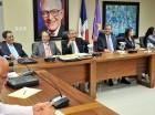 El presidente Danilo Medina y el expresidente Leonel Fernández, junto a otros miembros del Comité Político del PLD.
