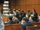 Félix Bautista junto a sus abogados, en la audiencia de ayer en la Suprema Corte.