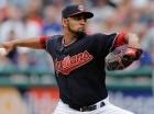 Danny Salazar trabajó siete y dos tercios de entradas para los Indios de Cleveland.