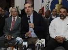 Luis Abinader durante la rueda de prensa.