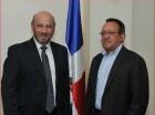 El ministro de Agricultura, Ángel Estévez junto al Subdirector de la FAO para América Latina y el Caribe, Raúl Benítez.