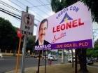 Santiago. El movimiento Todos con Leonel cambió sus vallas propagandísticas en la avenida Juan Pablo Duarte y ahora promueve la reelección del presidente Danilo Medina.