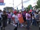 Marcha de comunitarios.