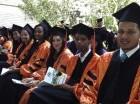 Algunos de los nuevos profesionales que graduó la Universidad Central del Este.