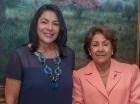 Alexandra Ventura Pichardo de Gómez, presidenta electa de la Junta Directiva del Patronato Nacional de Ciegos, junto a Josefina Morfa, pasada presidenta.