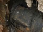 Tubería de 48 pulgadas ubicada en la avenida 27 de Febrero esquina Caonabo, que fue reparada por la CAASD.