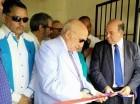 El presidente de la Fuerza Nacional Progresista (FNP), Marino Vinicio Castillo (Vincho), corta la cinta para dejar inaugurada la nueva Casa Nacional de esa organización.