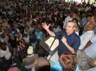 Luis Abinader habla durante un acto en La Victoria.
