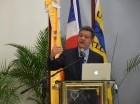 El expresidente de la República, Leonel Fernández, durante la conferencia.