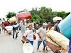 Haitianos en la frontera por Dajabón.