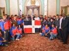 El presidente Medina encabezó la actividad en el Palacio Nacional.