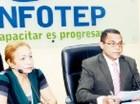 Luisa Fernández, directora del CNZFE, y Rafael Ovalles, del Infotep.