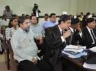 Marcos Martínez junto a sus abogados (archivo).