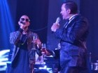 El bachatero Frank Reyes contó con la actuación de varios invitados, entre ellos el cantante urbano Mozart La Para. Cortesía: Cristian Mota