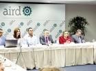 Directivos de la AIRD, del Infotep y de otras instituciones en el encuentro.