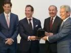 Alfredo Vargas, Víctor Vargas, el presidente Danilo Medina y Carlos Daniel Trujillo.