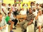 Durante la visita de Despertar Nacional y TASA al hogar de ancianos San Francisco de Asís en Día del Padre.