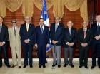 Navarro tuvo un encuentro con siete excancilleres.