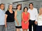 Miguel Ángel Ariza, Ana Viñas, Quisqueya Burgos, Alexandra Campusano, Hamlet Burgos y Ercida Frías.