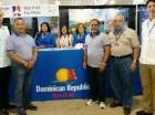 El stand de República Dominicana en la feria de aviación en Estados unidos.