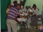 Los heridos del accidente en Dajabón fueron trasladados a diferentes centros de salud.