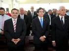 Durante la misa celebrada por el XlV Aniversario de la Superintendencia de Electricidad.