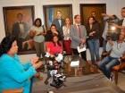 Cristina Lizardo ofrece declaraciones a los medios de comunicación.