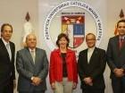 José Mármol, Manuel E. Jiménez, María Jesús Conde, representante residente de UNICEF en República Dominicana; el reverendo padre Ramón Alfredo de la Cruz Baldera y Elías Dinzey.