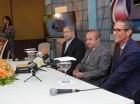 César Duvernay, vicepresidente del Consejo Administrativo; Ellis Pérez, presidente del Consejo Administrativo, y Ramón Tejeda Read, director general de la CERTV.