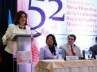 Margarita Cedeño encabezó el inicio de reunión de mujeres de América Latina y el Caribe.