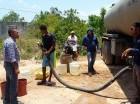 Comunidad recibe con agrado el agua.