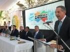 José Ramón Peralta habla en el acto inaugural de la Expo Vega Real.
