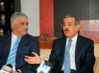 Miguel Vargas y Danilo Medina en una pasada reunión.