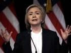 la precandidata demócrata Hillary Rodham Clinton en un acto en Nueva York.