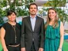 Paula González, Felipe González y Pilar González.
