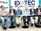 Carlos Tejeda, Antonio Conde, Beren Victoria, Miguel Gil Mejía, Manuel Amer Zaiter y Gilberto de la Rosa organizadores del torneo de golf de Exatec.
