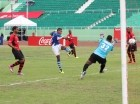 Durante el encuentro entre Atlántico FC el Bauger FC.