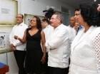 """El presidente Danilo Medina realizó un recorrido por el museo y la emisora """"La Voz del Yuna""""."""
