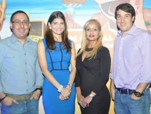 Alexis Hernández, Julissa Padrón, Madelyne Romero y Salomón Cohén.
