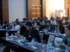 Algunos de los asistentes al seminario sobre gestión de riesgo financiero.