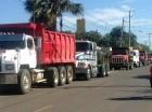 Los camiones no cruzaron ayer a Haití.