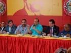 El Directorio Presidencial del PRSC reunido ayer.