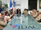 Alejandro Herrera y José Eugenio Matos de la Cruz firmaron en la sede del IDAC.