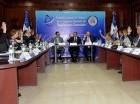 Andrés Navarro encabezó la reunión en la sede de la Cancillería.