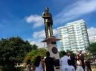 La estatua fue inaugurada ayer.