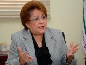 Alejandrina Germán, integrante del Comité Político del PLD.