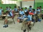 Estudiantes durante la primera semana del año escolar.