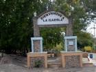 El parque  guarda los restos de la casa del Almirante Cristóbal Colón.