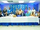 Merengueros, salseros y urbanos participaron en el encuentro donde se dieron detalles del Festival del Merengue y Ritmos Caribeños.